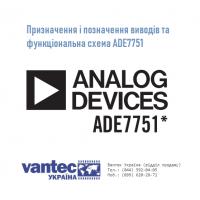 Распиновка и функциональная схема ADE7751 (ADE7751ARSZ или ADE7751ARSZRL)