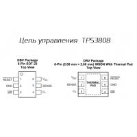 Цепь управления с программируемой задержкой и малым током покоя от TI - TPS3808